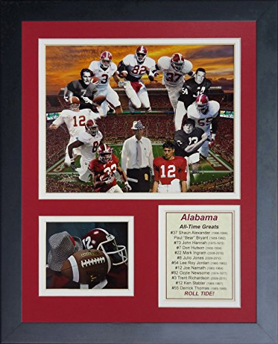 "Alabama Crimson Tide - Greats Collage 11"" x 14"" Framed Photo Collage by Legends Never Die, Inc."