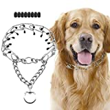 SuReady Dog Prong Collar, Stainless Steel Dog Chole Pinch Training Collar with Quick