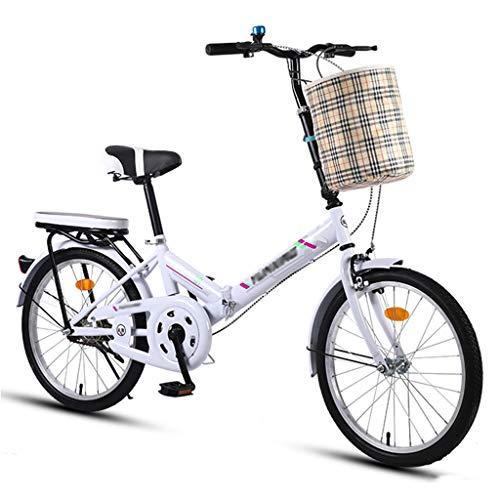 Bicicleta Plegable, Mini Bicicletas Portátiles de 20 Pulgadas, Bicicleta de Cuadro Aerodinámico Extensible con Llanta Antideslizante y Resistente al Desgaste (Altura de Los Ciclistas: 135-180 cm)