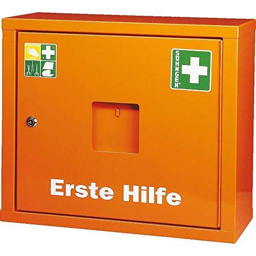 *SÖHNGEN 0390013 Sanitätswandschrank JUNIORSAFE gefüllt DIN 13169, orange, 49 x 42 x 20 cm aus Stahl, mit PRÜFPLAKETTE*