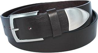 Accorciabile Grigia Cintura in Vera Pelle Italiana ITALOITALY ca Made in Italy Bordo con Cucitura Donna 3cm Produzione Artigianale