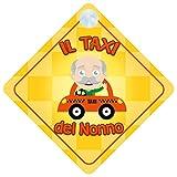 Il Taxi Del Nonno a Bordo adesivo bimbo / bambina / neonato a bordo adesivo macchina, bimbi, bambini, famiglia