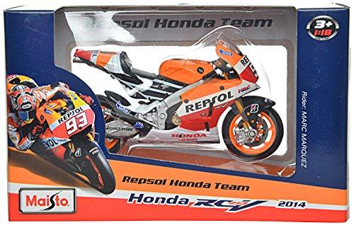 maisto motogp 2014 honda respol rc213v scale-1:18 die cast toy motorcycle- Multi color
