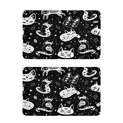 F17 - Imán magnético cuadrado para nevera (2 unidades, 4 x 2.5 pulgadas), diseño de estrella de gato, tribal, imán de metal para nevera, para oficina, lavavajillas, cocina, decoración