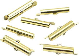 ARRICRAFT 100pcs Slider End Clasps Tubes Terminators Jewelry Makig Cord Ends for Ball Chain Jewelry Makig, 6mm in Diameter, 26mm Long
