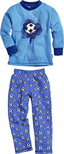 Playshoes Schlafanzug Single-Jersey Fußball Ensemble De Pyjama, Bleu (Original 900), 125 (Taille Fabricant: 110) Garçon