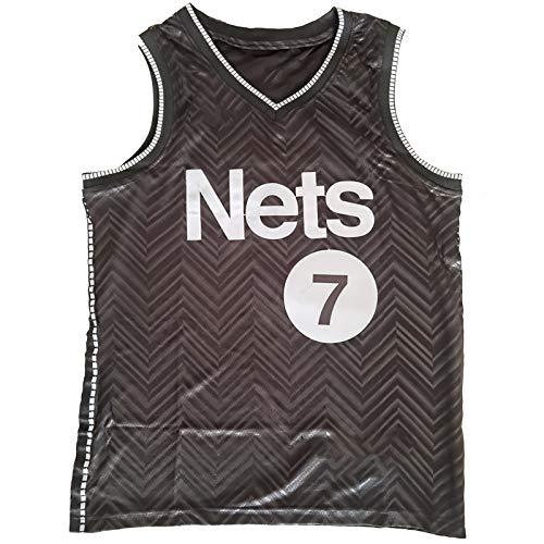 OLJB Camiseta de tirantes para hombre Kevin Durant Brooklyn Nets No. 7, transpirable, bordada, baloncesto, entrenamiento, deportes, color negro y XXL