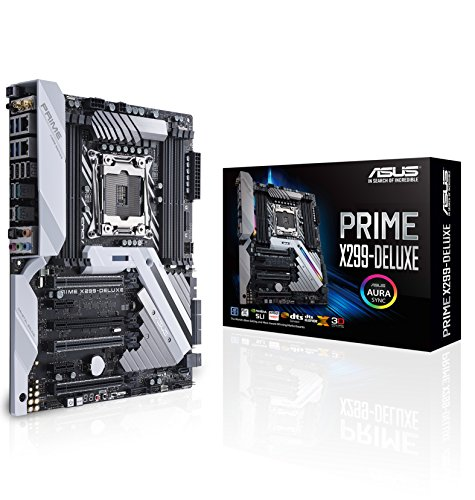 ASUS Prime X299-DELUXE LGA2066 DDR4 M.2 U.2 Thunderbolt 3 USB 3.1 X299 ATX Motherboard with Dual...