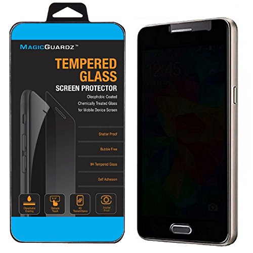 MagicGuardz, Made for Samsung Galaxy S7 (NOT for Edge), Privacy Anti-Spy Tempered Glass Screen Protector Shield, Retail Box