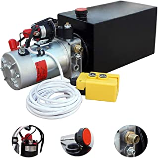 Electric Hydraulic Pump Unit  Metal Reservoir  for Dump Trailer (Double Acting 10 Quart)