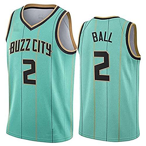 YCQQ Ropa Jersey Men's, NBA Charlotte Hornets # 2 Lamelo Ball - Uniformes de Baloncesto Camisetas de Deporte sin Mangas clásicas y Camisetas cómodas, Maillot de Abanico, Transpirable(Size:L,Color:G1)