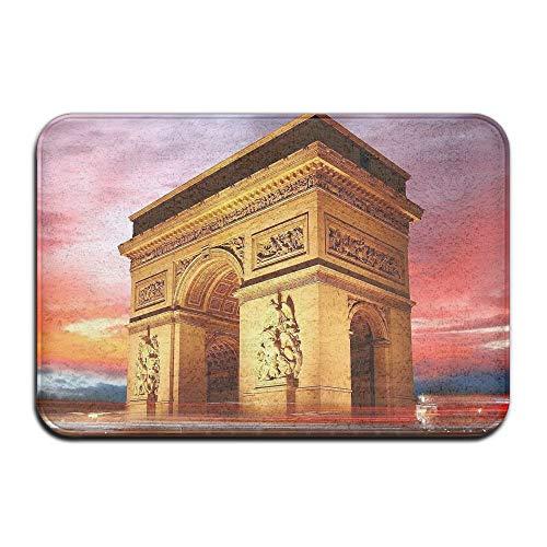 Flimy Na Felpudos Arco del Triunfo en París Alfombra de Entrada de Arte Alfombrilla Antideslizante Área Exterior Interior Alfombrillas de baño