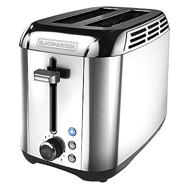 BLACK+DECKER 2-Slice Toaster, Rapid Toast, Stainless Steel, TR3500SD