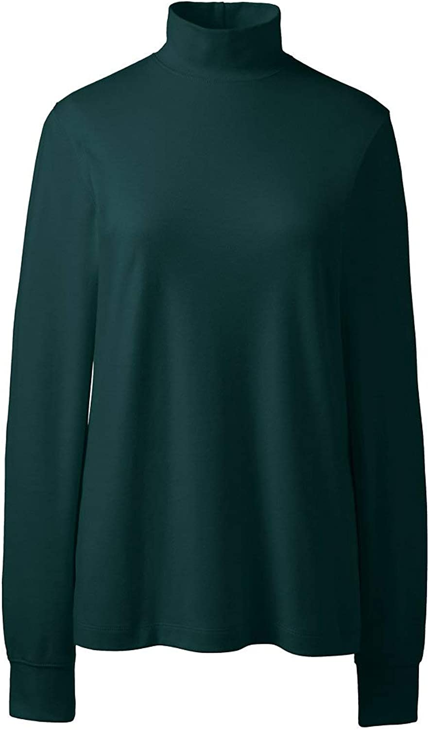 Lands' End Women's Relaxed Cotton Mock Turtleneck