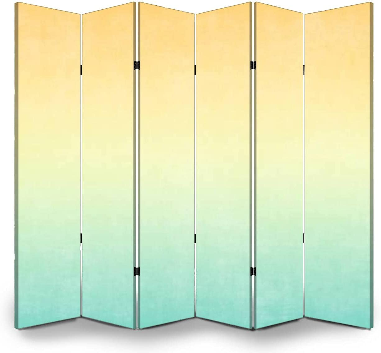 6 Panels Room Divider Max 45% OFF Screen Autumn Orange Partition Baltimore Mall Background