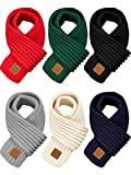 SATINIOR 6 Pieces Kids Knitted Scarf Solid Color Winter Toddler Wrap Scarves for Boy Girls (Color Set 1), Medium