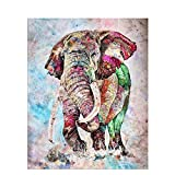 GTZXHNM Malen Nach Zahlen Ölgemälde Für Kinder Erwachsene,DIY Acrylmalerei Für Anfänger,Indische Bunte Elefant Gemälde Auf Leinwand Malen Nach Zahlen Malerei Für Home Wand Wohnzimmer Schlafzimmer DEK