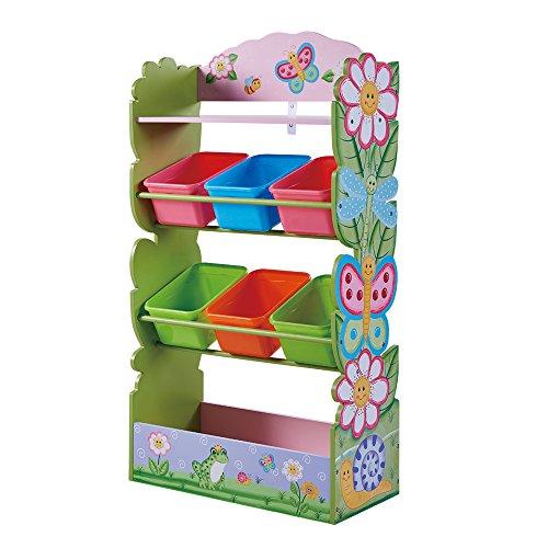 Fantasy Fields - Magic Garden Kids' Toy Organizer with 6 Combo Bins and Extra Storage, Pink
