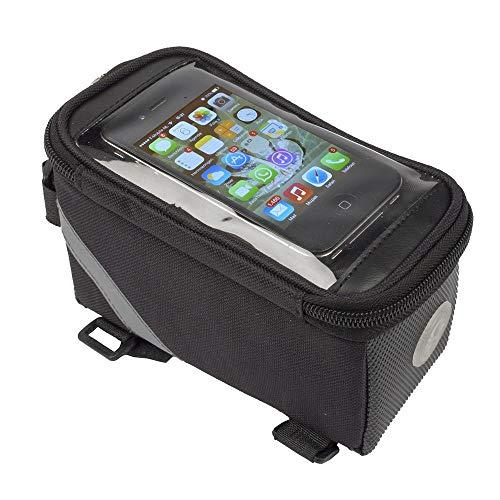 Fietstas frametas voor smartphone mobiele telefoon - bovenbuis tas - frametas zwart
