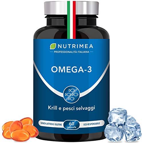 Omega 3 Krill Olio di Pesce | 1000 mg Olio di...