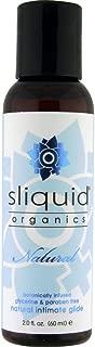 Sliquid Lubricants Organics Natural Intimate Glide, White, 2 Fluid Ounce