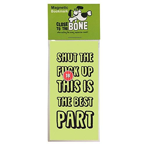 #625 Segnalibro magnetico con scritta'Shut Up', regalo divertente per festa del papà, regalo di compleanno