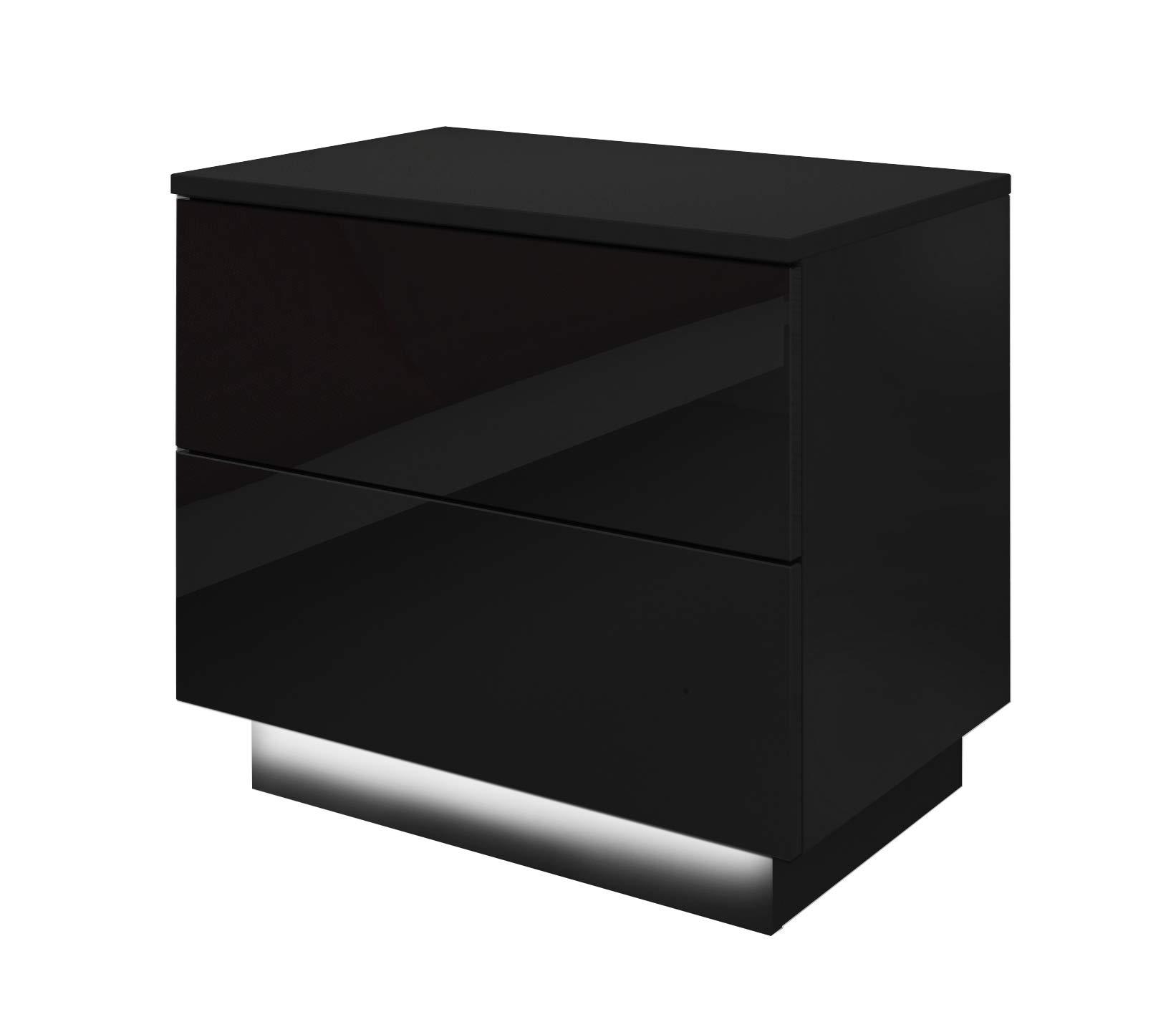 Parete da Soggiorno Moderno sospeso Modello Nora H3 Bianco con LED 160cm x Altezza Minima 190cm x profondit/à Maxima Larghezza Totale muebles bonitos Mobile Soggiorno 40 cm