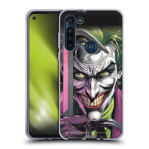 Head Case Designs sous Licence Officielle Batman DC Comics Le Clown Three Jokers Coque en Gel Doux Compatible avec Motorola Moto G8 Power
