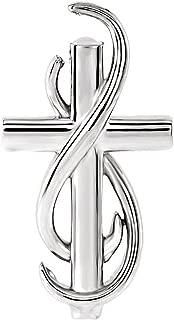 Black Bow Jewelry Platinum Infinity Cross Slide Pendant, 15mm
