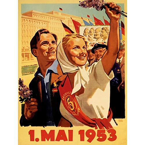 Wee Blue Coo Prints Propaganda Political Soviet Union Marx Engels Lenin Stalin Poster 30X40 CM 12X16 in Print La Propagande Politique soviétique syndicat Lénine Staline Affiche