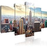 murando - Cuadro en Lienzo 200x100 cm Impresión de 5 Piezas Material Tejido no Tejido Impresión Artística Imagen Gráfica Decoracion de Pared Ciudad New York 030211-63