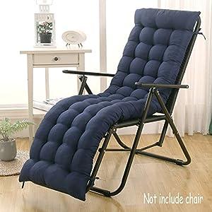 DUCHEN - Cojín grueso y largo para tumbona reclinable con respaldo, colchoneta para sillas de jardín, asientos reclinables y bancos, ideal para interiores o exteriores