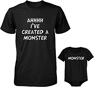 Daddy and Baby Matching T-Shirt and Onesie Set – Ahhh I'Ve Created A Monster