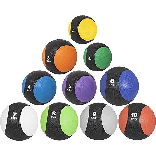 GORILLA SPORTS® Medizinball Gummi 1kg – Fitnessball Gelb rutschfest