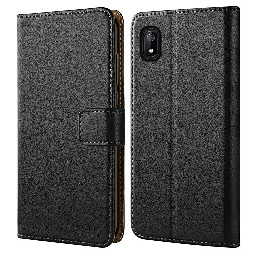 HOOMIL Samsung A10E Case, Galaxy A10E Wallet Case Premium Leather Folio Case, Flip Book Style Wallet Cover with TPU Shockproof, Stand, Card Slots and Cash Pocket for Samsung Galaxy A10E (Black)