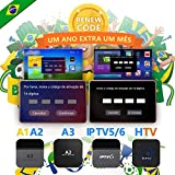 IPTV Brazil Brasil TV Box Renew Code, Activation Code for A1/A2/A3/ HTV/IPTV 5 6 8/ King 5/6, NOT IPTV 6+, Subscription 16-Digit Renew Code,One Year,TV Box Brazil Code