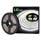 LE Tira LED, Tira Luz 5m 300 LED 5050, Blanco Frío 6000K No Impermeable, Con DC Enchufe, 3600 Lúmenes, Luz tira para Techo,...
