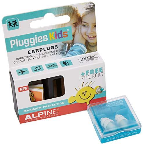 ALPINE AL200236 Pluggies Kids Ohrstöpsel, 6 Paar