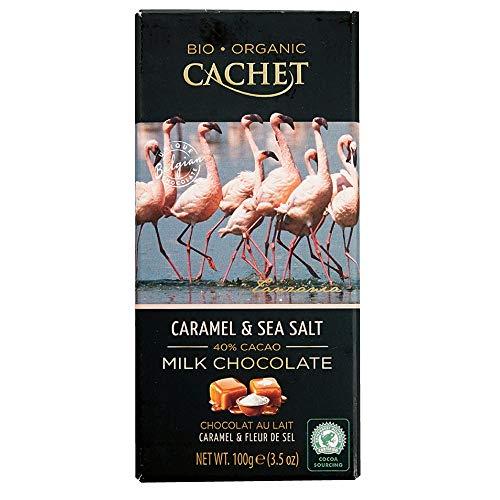 Cachet(カシェ) キャラメル&シーソルト 100g×12枚(1ケース) [正規輸入品]