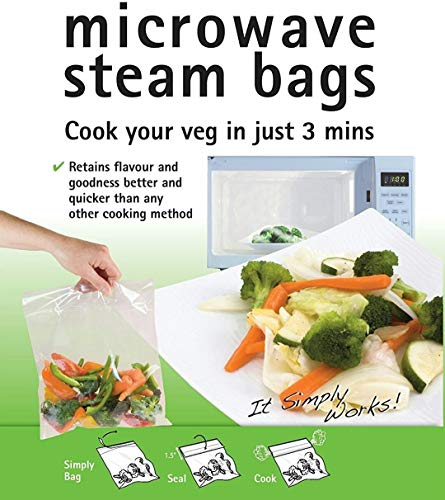 TOTAL HOME Toppits 2 in 1 Microwave Steam Cooking and Freezer Bag (18 X 20 cm , Orange) -Set of 10