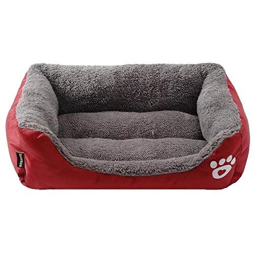 TRUEGRIT Kleines mittelgroßes großes Hundehundebett Haustierhundehaus warmes Baumwollwelpenkatzenbett S Burgund