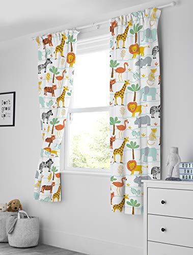 Bloomsbury Mill Safari Adventure - Jungle Animals Curtains