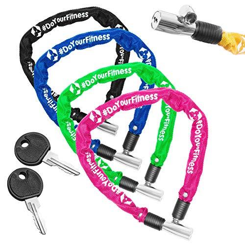 Fahrradschloss »Guardian« Sicherheitsschloss / Radschloss / Stahlgliederketten mit Schlüsseln zur Basisabsicherung - Inkl. 2 Schlüssel /ca. 60 cm lang, Durchmesser ca. 20 cm, Stärke ca. 3-4mm blau - 6