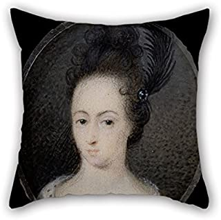 Oil Painting David Von Krafft - Hedvig Sofia, Princess Of Sweden, Duchess Of Holstein-Gottorp Cushion Covers 16 X 16 Inches / 40 By 40 Cm Gift Or Decor For Relatives Teens Girls Kitchen Monther Ba