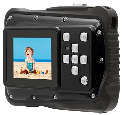 Rollei Sportsline 64 - Flexible Digitalkamera mit 5 MP CMOS Sensor, HD Videofunktion 720p (1280 x 720 Pixel) - Wasserdicht bis 3 Meter - Schwarz
