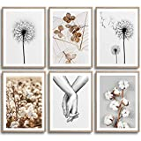 MONOKO® Set di 6 poster per soggiorno o camera da letto, immagini di alta qualità, eleganti quadri da parete, senza cornice