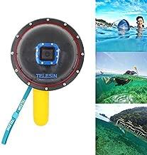 TELESIN 6 Inch 5 Meters Waterproof Underwater Floaty Monopod Dome Port For Gopro Hero 4 3 Plus
