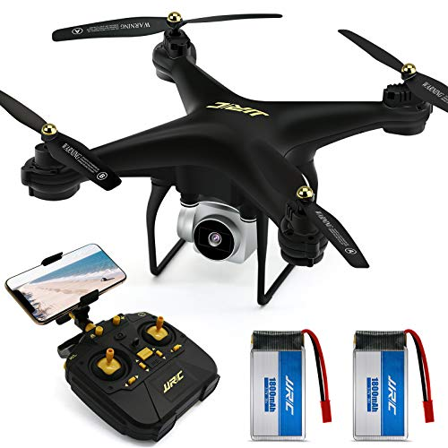 JJRC Drone with Camera for Adults, 20+20 MINS Longer Flight Time Drone with 720P Camera FPV WiFi RC...