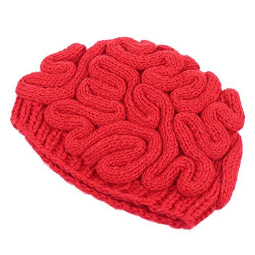 BESPORTBLE Chapéu de Malha Cérebro Pensando Boné de Inverno Gorros para Homens Mulheres Natal Festa de Halloween Favor Presente Fantasia Suprimentos Chapéu Elástico