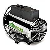 Bio Green Elektrogebläseheizung Phoenix, silber/schwarz - IP X4 Spritzwassergeschützt für...